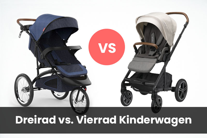 Dreirad oder Vierrad Kinderwagen?
